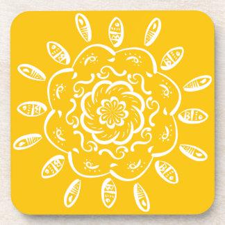 Honig-Mandala Untersetzer