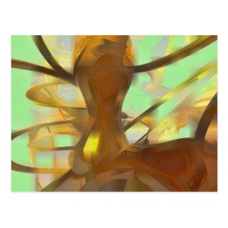 Honig-Pastellabstraktes Postkarte