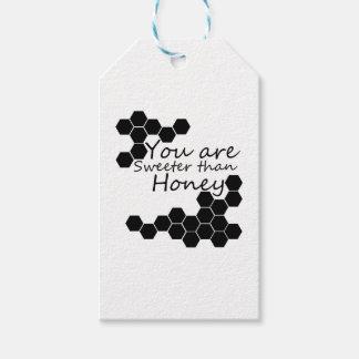 Honig-Thema mit positiven Wörtern Geschenkanhänger