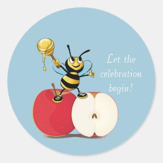 Honigbiene Apple Rosh HaShana Runder Aufkleber