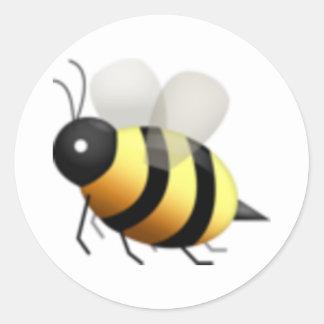 Honigbiene - Emoji Runder Aufkleber