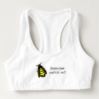 Honigbiene niedliches Workin heraus addieren Ihren Sport-BH