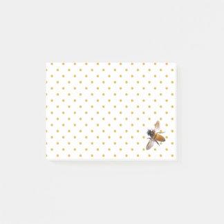 Honigbiene und Tupfen Post-it Klebezettel