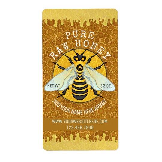 Honigbienen-Bienenhaus-Honig-Glas beschriftet | Versand Aufkleber