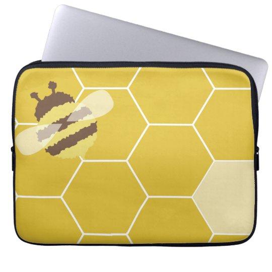Honigbienen-Bienenwaben-Muster-Laptop-Computer Laptopschutzhülle