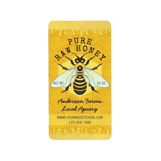 Honigbienen-Honig-Glas-Bienenhaus beschriftet   Adressetiketten
