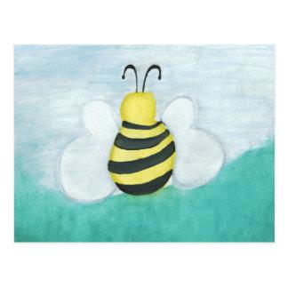 Honigbienen-horizontale Postkarte