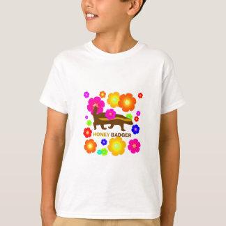 Honigdachs-Blumen T-Shirt