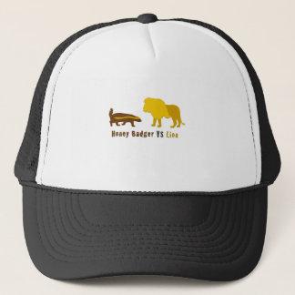 Honigdachs gegen Löwe Truckerkappe