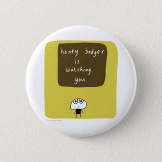 Honigdachs passt Sie auf Runder Button 5,7 Cm