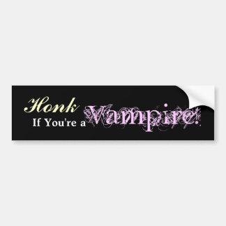 Honk, wenn Sie ein Vampir sind! Autoaufkleber