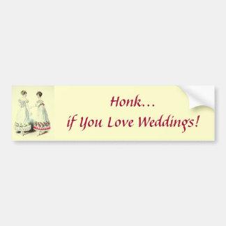 Honk wenn Sie Liebe-Hochzeiten! Autoaufkleber
