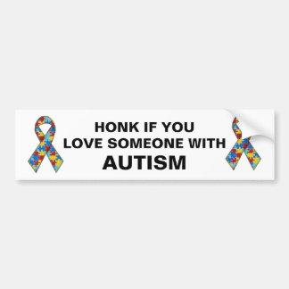 Honk wenn Sie Liebe jemand mit Autismus Autoaufkleber