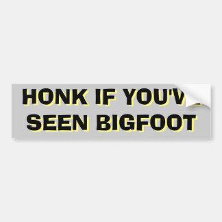 Honking für Schwarzes und Gelb Bigfoots Sasquatch Autoaufkleber
