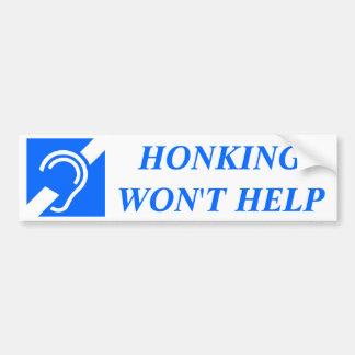 HONKING HILFT NICHT AUTOAUFKLEBER