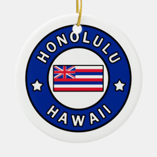 Honolulu Hawaii Keramik Ornament