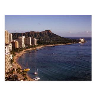 Honolulu-Skyline-Postkarte Postkarte