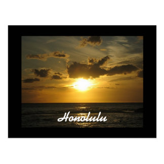 Honolulu-Sonnenuntergang Postkarte