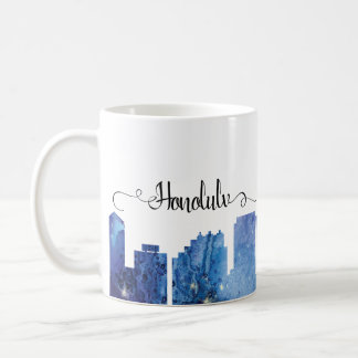 Honolulu-Stadt Skyline-Silhouette Kaffeetasse