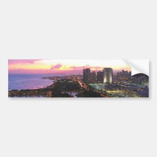 Honolulu-Stadtbild Hawaii-Sonnenuntergang Autoaufkleber