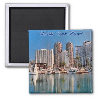 Honolulu-Szenen-Magnet Quadratischer Magnet