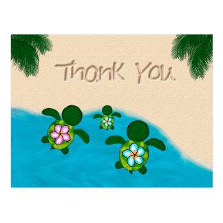Honu Baby-Meeresschildkröte danken Ihnen Jungen Postkarte