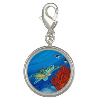 Honu (grüne Meeresschildkröte) und schwarze Charm