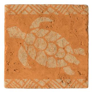 Honu Meeresschildkrötehawaiischer Tapa - Papaya Töpfeuntersetzer