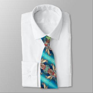 Honu Schwimmen (grüne Meeresschildkröte) Personalisierte Krawatten