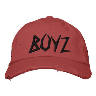 Hoodbilly BOYZ, 3 mit Seiten versehene gestickte Baseballkappe