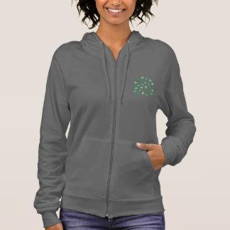 Hoodie der Klee-Blätter-Frauen Zip