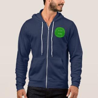 Hoodie der Männer die Marinemit grünem Logo