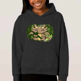 Hoodie des Kawaii Drache-Bambusmädchens der