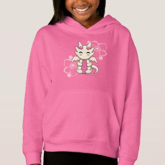 Hoodie des Kawaii Drache-Mädchens der Pullover