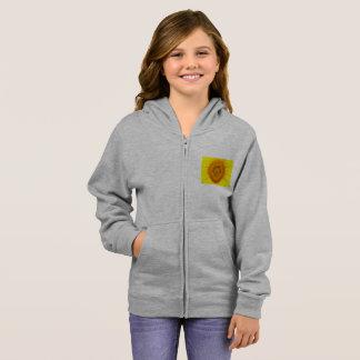 Hoodie des Sonnenblume-Mädchens Zip