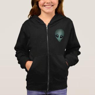 Hoodie-Jacken-alien-mit Kapuze Jacke des Mädchens