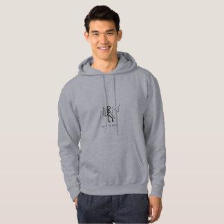 Hoodie-mit Kapuze Sweatshirt HIER WANDERN