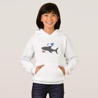 Hoodie mit niedlichem i-Liebehaifischentwurf