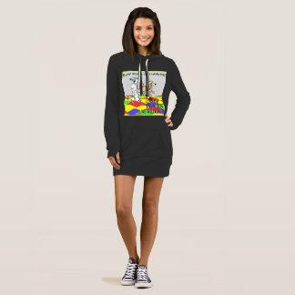 Hoodie, Sweatshirt, lang Kleid