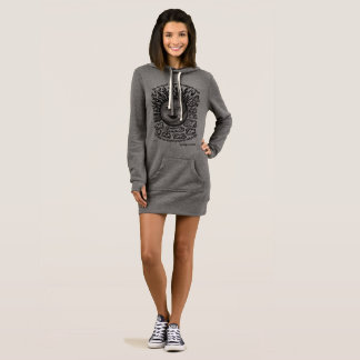 Hoodiekleid der grauen und schwarzen Frauen mit Kleid