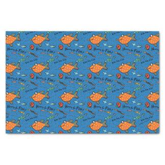 Hooray für Fisch-Muster Seidenpapier