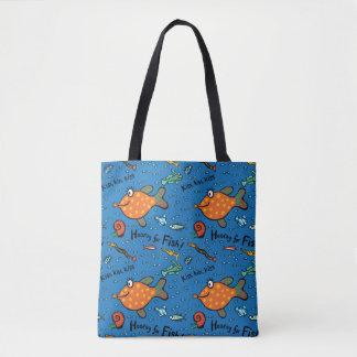 Hooray für Fisch-Muster Tasche
