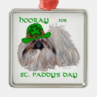 Hooray für Tag St. Paddys Silbernes Ornament