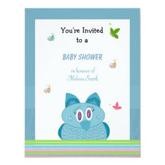 Hooty Eulen-Babyparty-Einladung 10,8 X 14 Cm Einladungskarte