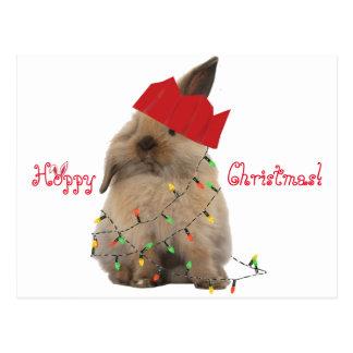 Hopfenreiche Weihnachtshäschen-Postkarte Postkarte
