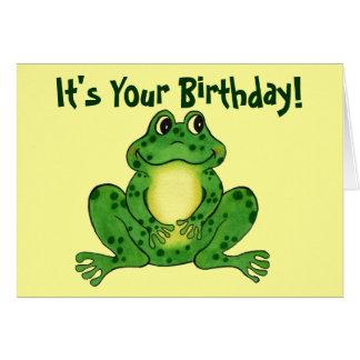 Hopfenreicher Frosch - der Geburtstags-Karte der Karte