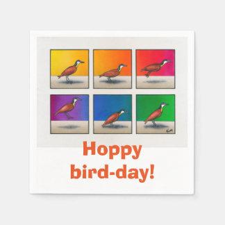 Hopfenreiches Vogel-tägiges! Papierservietten