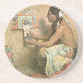 Hopi Katchina durch Couse, Vintager gebürtiger Untersatz
