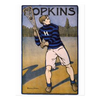Hopkins Lacrosse 1902 - Bristow Adams Postkarte