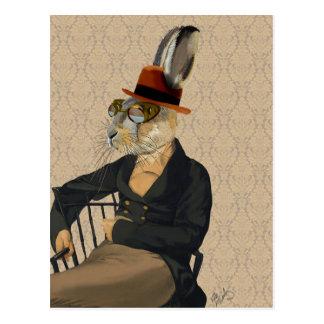 Horatio Hasen auf Stuhl Postkarte